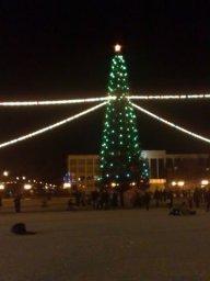 Елка на центральной площади